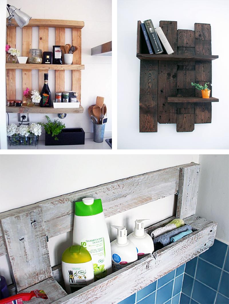 Fabriquer Meuble Salle De Bain Palette 4 meubles de rangement à faire avec des palettes en bois